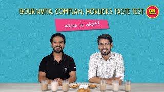Bournvita, Complan, Horlicks Taste Test: Which Is What? | Ft. Joshua & Akshay | Ok Tested