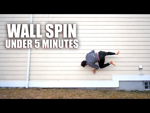 Learning Parkour  Teaching Myself How to: Wall Spin