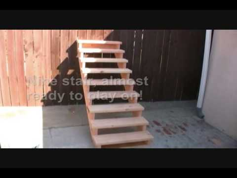 unicycle tutorial how to make a stair set youtube. Black Bedroom Furniture Sets. Home Design Ideas