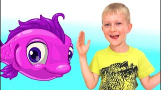 Pretend play toys fish by Tawaki kids. Video for children