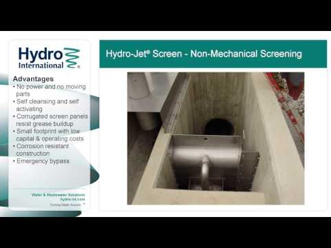 Hydro Jet Screen Non Mechanical Wet Weather Screen from Hydro International