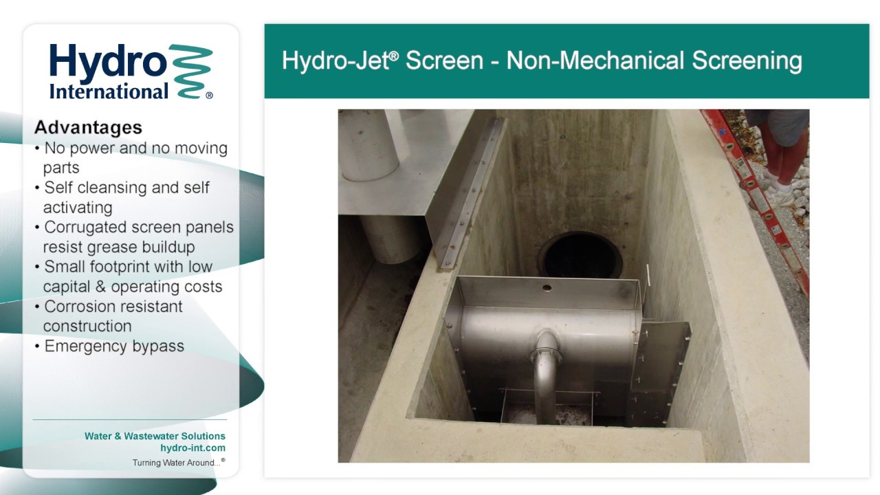 hydro jet screen non mechanical wet weather screen from hydro hydro jet screen non mechanical wet weather screen from hydro international