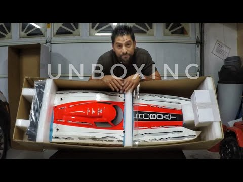Unboxing A GIANT 4 Foot RC GAS Boat! Zelos 48G Gas PROBOAT - Smith RC Studios