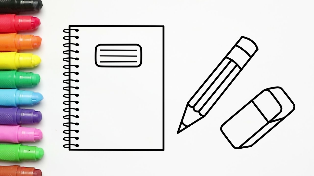 Buku Pensil Penghapus ❤️ Belajar Menggambar dan Mewarnai