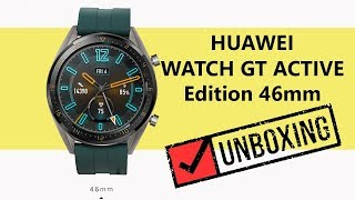 UNBOXING Huawei Watch GT 46mm Titanium Grey Smart Watch Active Edition Model FTN-B19 [UPDATED]