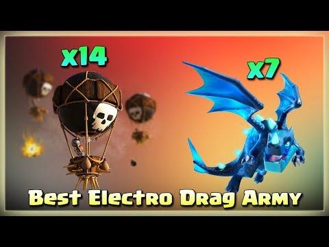 14 Balloon+7 Electro Dragon= Th12 Best Electro Dragon Army | TH12 War Strategy #30 | COC 2018 |