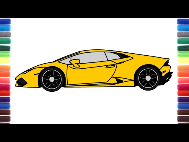Step By Step How To Draw Lamborghini Centenario Side View Free