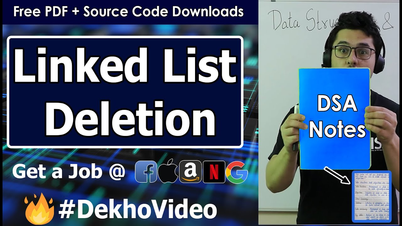 Deletion in a Linked List   Deleting a node from Linked List Data Structure