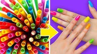 як зробити нігті з паперу для дівчаток