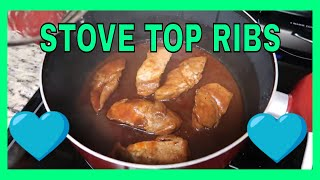 STOVE TOP RIBS FOR DINNER