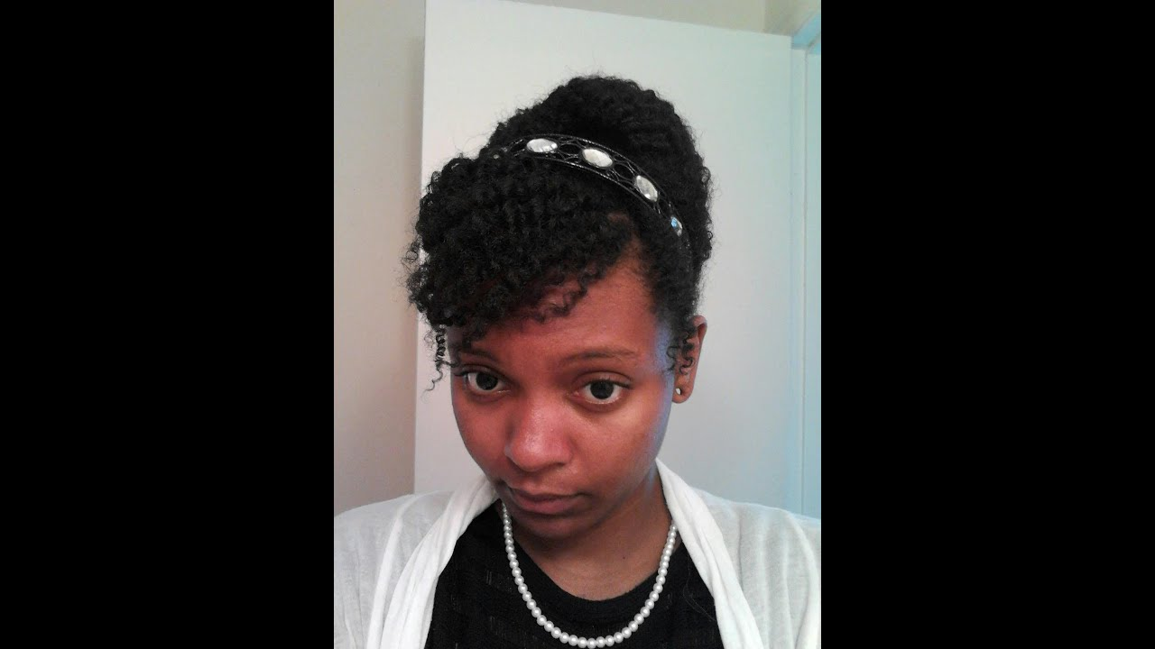 natural hair updo: job interview - YouTube