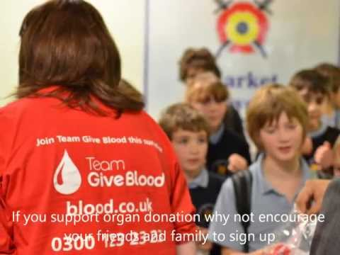 NHS Organ Donation visit to Market Bosworth High School, Leicestershire - 2012