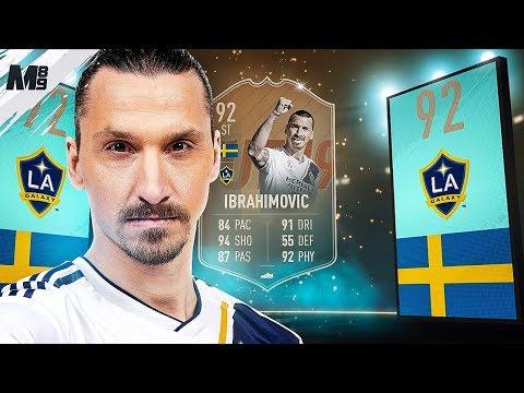 FIFA 19 FLASHBACK IBRAHIMOVIC REVIEW   92 FLASHBACK IBRAHIMOVIC PLAYER REVIEW FIFA 19 ULTIMATE TEAM thumbnail