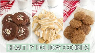 Healthy Holiday Cookies | paleo gingerbread, shortbread & peppermint