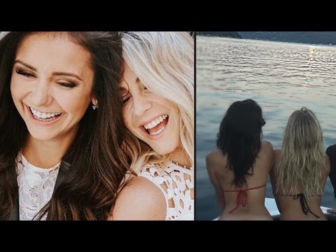 Nina Dobrev & Julianne Hough Flash FULL MOON On Vacation
