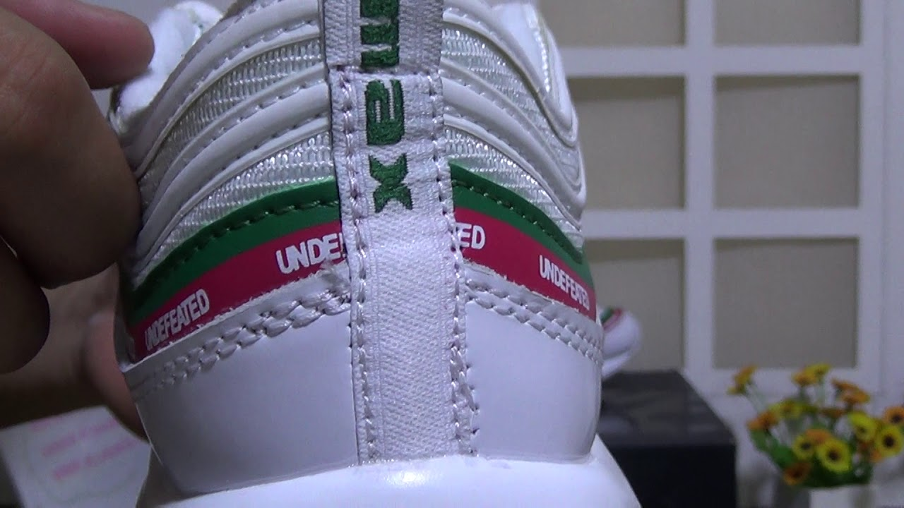 nike air max 97 x undefeated white fake