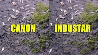 Canon 50mm 1.8 II vs. Industar 50mm 3.5 Video test