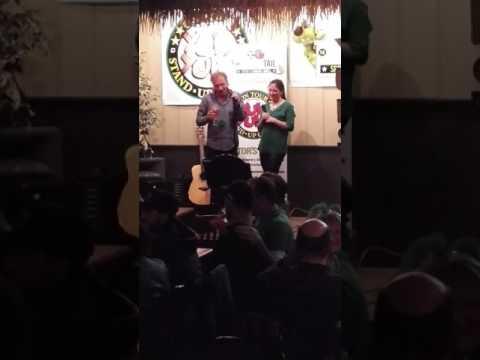 Steve McNally and Catherine karaoke...