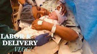LABOR & DELIVERY VLOG !! EMOTIONAL LIVE BIRTH || EMERGENCY C SECTION ||