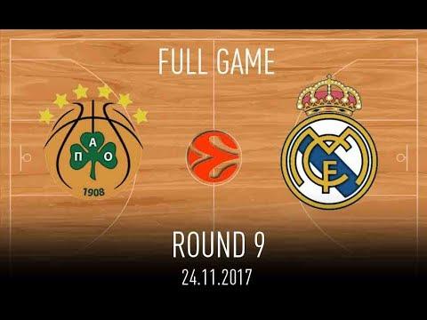 Panathinaikos vs Real Madrid 24.11.2017 - Euroleague