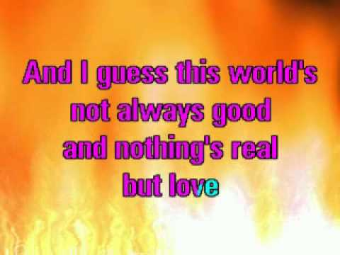 REBECCA FERGUSON NOTHING'S REAL BUT LOVE CORI KARAOKE