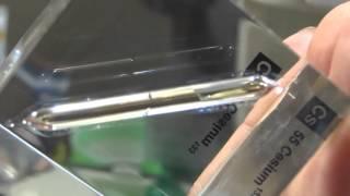 金属セシウム標本・Cesium metals