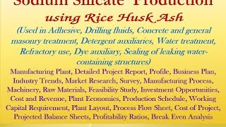 sodium silicate from rice husk ash used in adhesive detergent auxiliaries water treatment