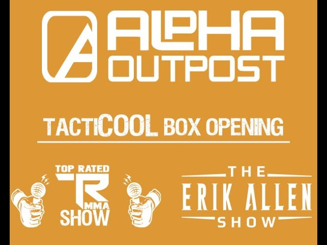 Box Opening of the TactiCOOL box from Alpha Outpost - AlphaOutpost.com