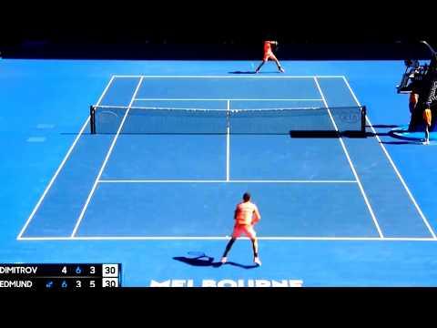 Kyle Edmund vs Grigor Dimitrov►Quarterfinals, 23/01/18 Highlights