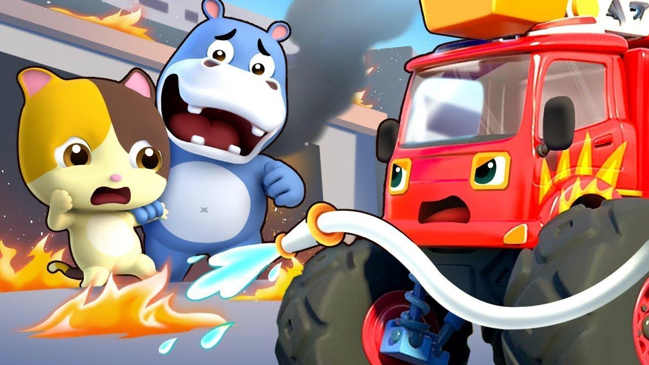 Xe cứu hỏa thi hành nhiệm vụ | Biệt đội lính cứu hỏa dũng cảm | Nhạc thiếu nhi vui nhộn | BabyBus