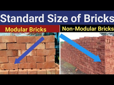 Size of Standard Bricks I Size of Modular Bricks I Size of Non-Modular Bricks I