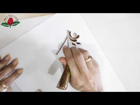 Practice 2: Practice and learn  tear drops and zigzag checks  mehendi elements Hindi
