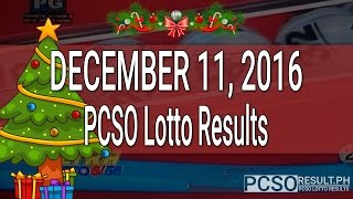 PCSO Lotto Results December 11, 2016 (6/58, 6/49, Swertres & EZ2)