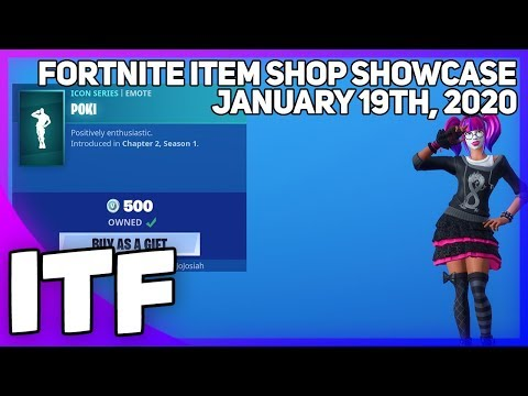 Fortnite Item Shop *NEW* POKIMANE EMOTE! [January 19th, 2020] (Fortnite Battle Royale)