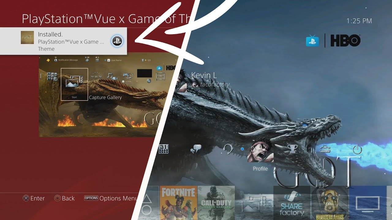 How To Get A Free Game Of Thrones Ps4 Dynamic Theme Game Of