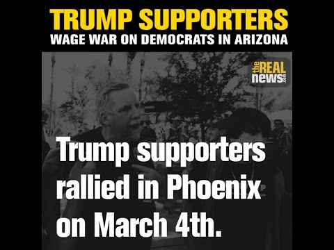 Trump Supporters Call For Imprisoning Liberals at Phoenix Rally