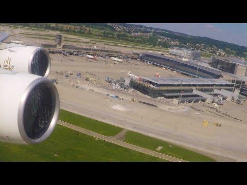Emirates A380-861 Takeoff from Zürich