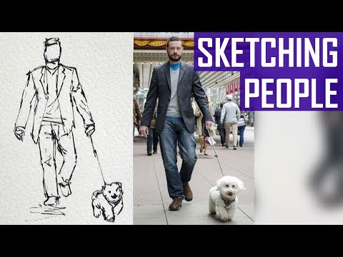 How to Sketch People in Pen and Ink (Part 1/2)