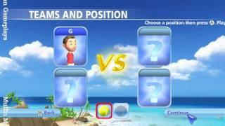 Racquet Sports Wii Gameplay