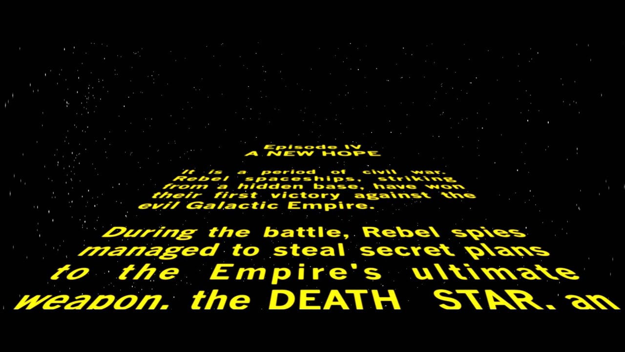 Star Wars Opening Crawl Remake YouTube