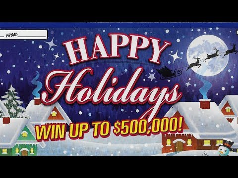 "1x $20 ""HAPPY HOLIDAYS"" - Missouri Lottery Scratchers!"