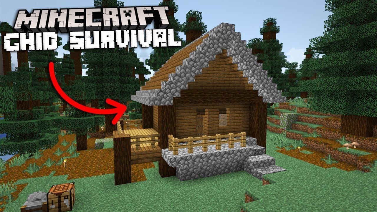 Cum sa Faci o Casa de Inceput! - Ghid Pentru Survival Minecraft 1.14 [4]