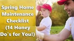 Spring Home Maintenance Checklist (14 Honey Do's for You!)