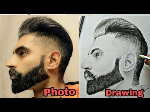 Parmish Vermathe Beard Men Realistic Drawing Youtube