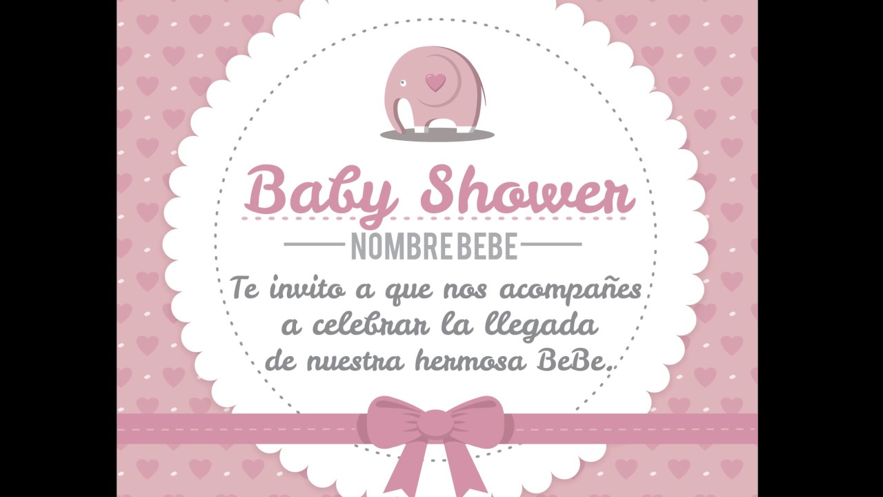 Diseño Invitaciones Para Baby Shower Digitales