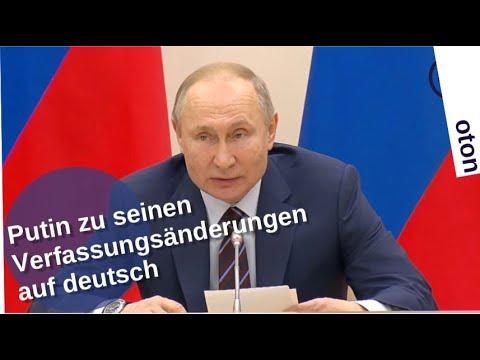 Putin zu seinen Verfassungsänderungen auf deutsch