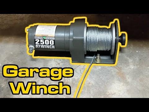 Harbor Freight Winch Garage Install