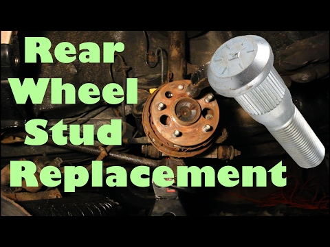 Rear Wheel Stud Replacement on a '96 Toyota Camry