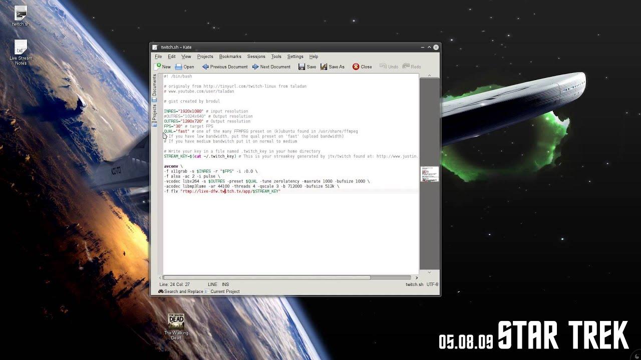 Live Stream To TwitchTV with Ubuntu Linux (fix)