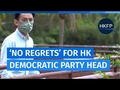 Lo Kin-hei - head of the embattled Hong Kong Democratic Party - says he has 'no regrets'